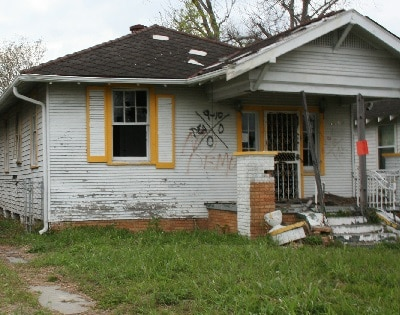 Low income 9th ward house in New Orleans, Louisiana