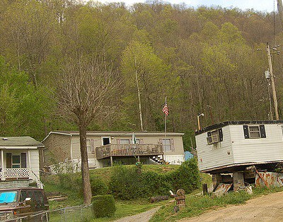 Trailers and low income housing in Mingo County, West Virginia