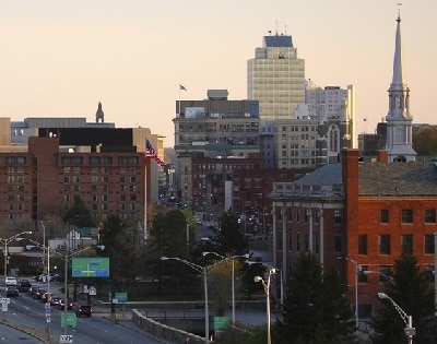 Downtown Worcester Massachusetts